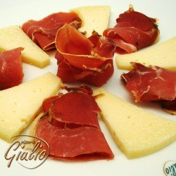 Mixed ham and cheese plate